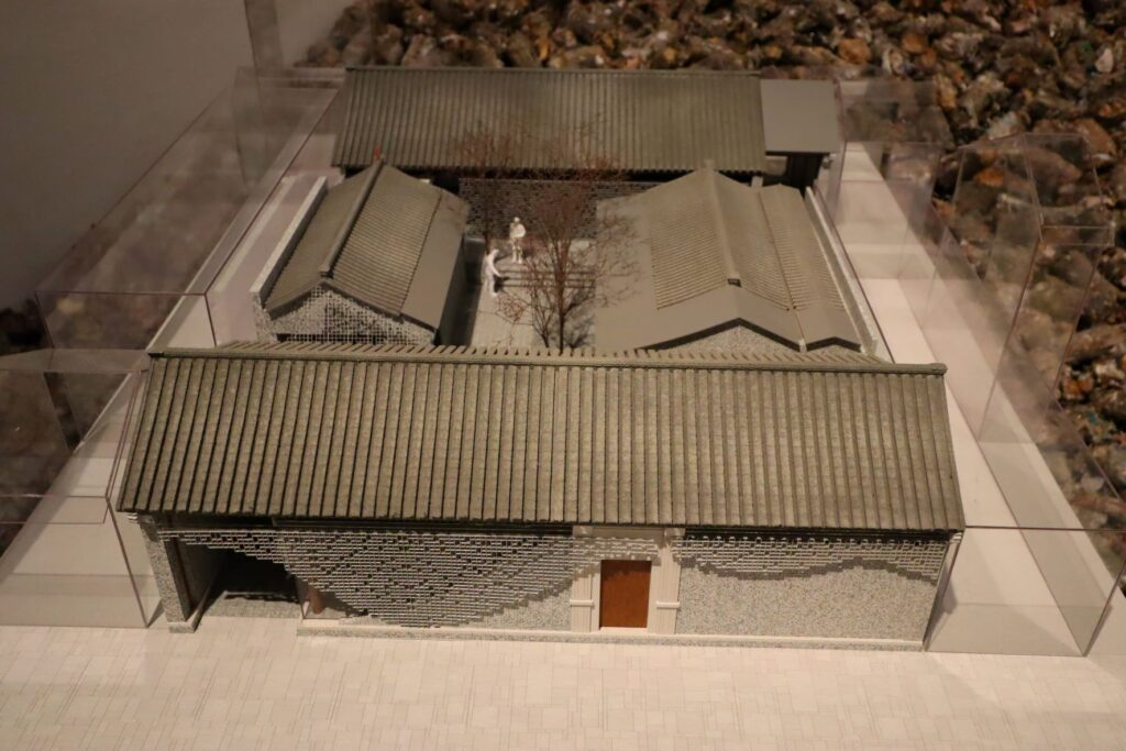 隈研吾展の北京 前門の建築模型