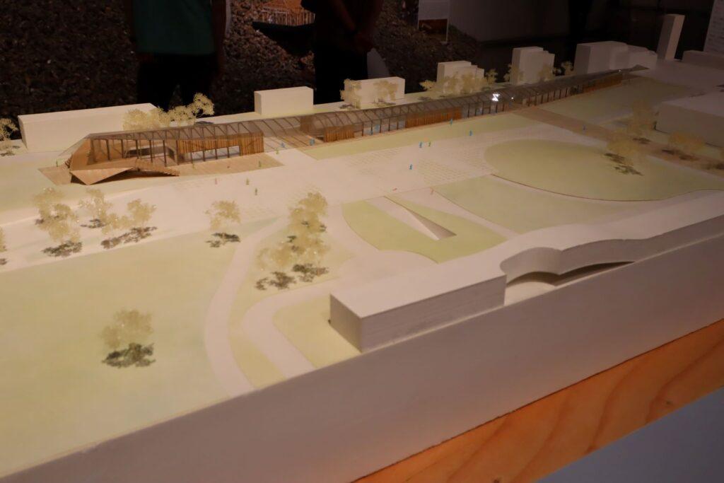 隈研吾展のEPFL ArtLabの建築模型