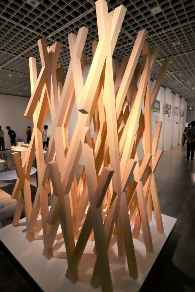 隈研吾展のサニーヒルズの建築模型