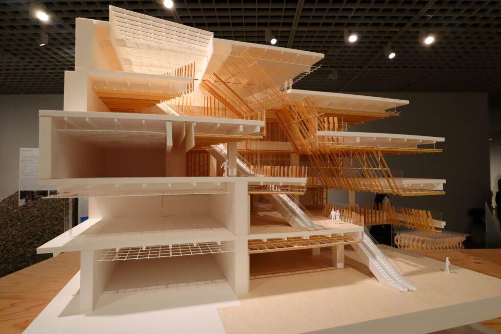 隈研吾展のToyamaキラリの建築模型
