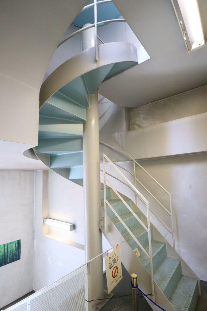 川崎市大山街道ふるさと館の螺旋階段