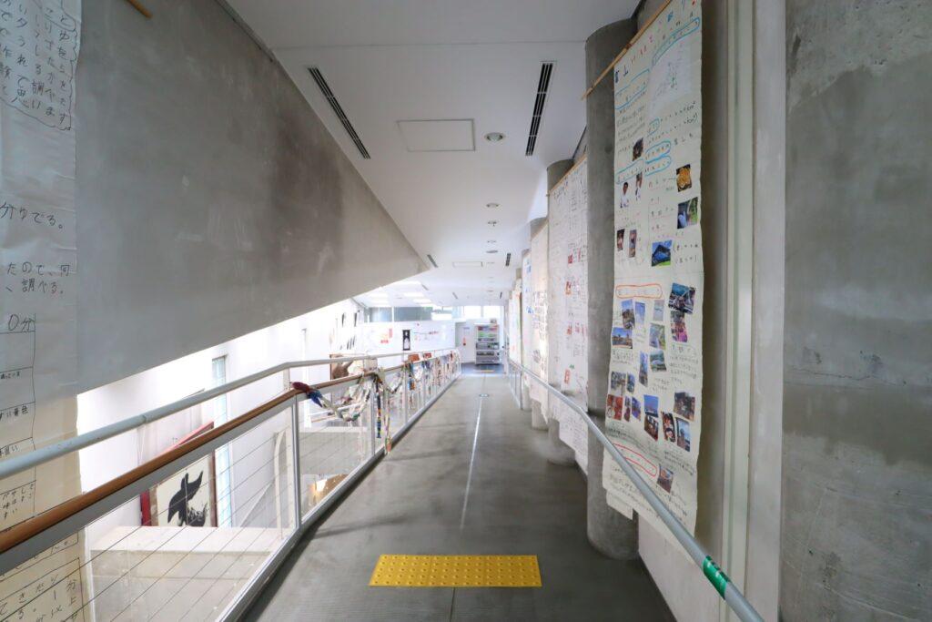 川崎市大山街道ふるさと館の3階から見下げた様子