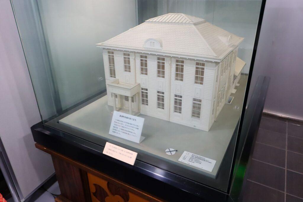 川崎市大山街道ふるさと館が建つ前にあった高津町役場の建築模型