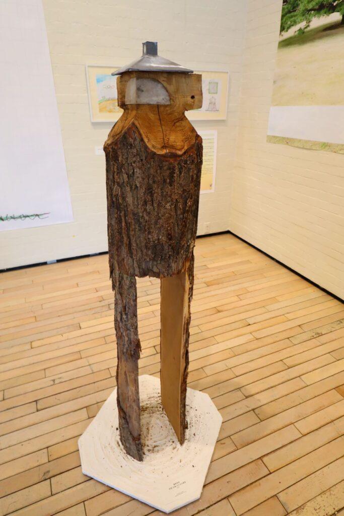 パビリオン・トウキョウ2021展の茶室「五庵」(藤森照信)の模型