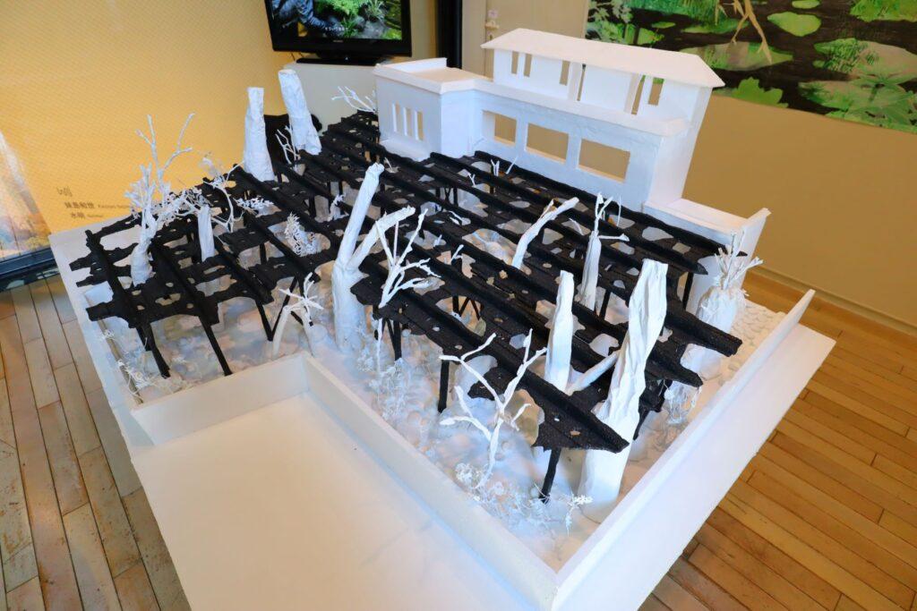 パビリオン・トウキョウ2021展の木陰雲(石上純也)の模型