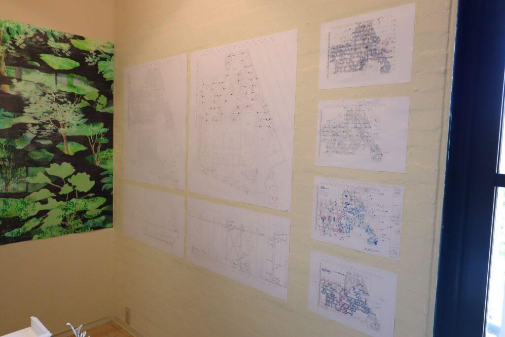 パビリオン・トウキョウ2021展の木陰雲(石上純也)の図面