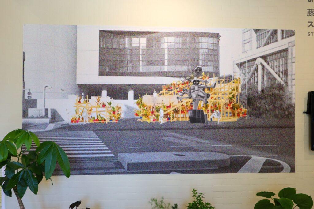 パビリオン・トウキョウ2021展のストリートガーデンシアター(藤原徹平)のプレゼンテーション