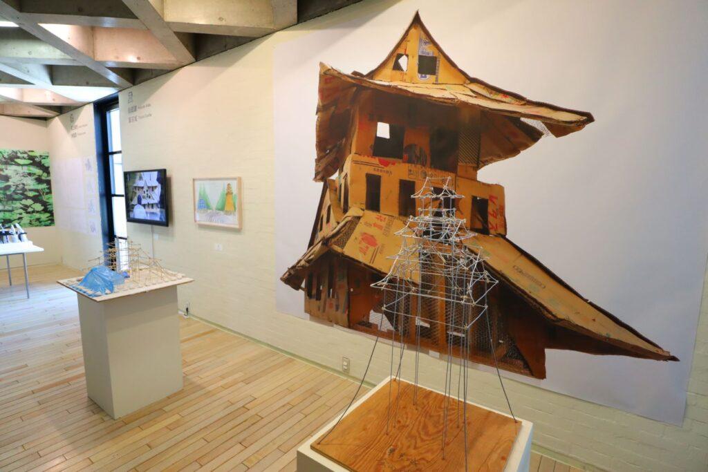 パビリオン・トウキョウ2021展の東京城(会田誠)の模型
