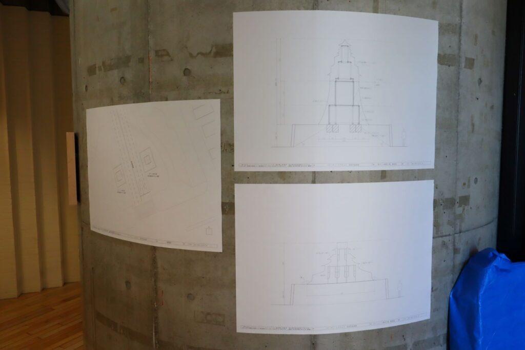 パビリオン・トウキョウ2021展の東京城(会田誠)の図面