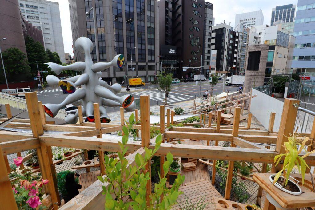 パビリオン・トウキョウ2021のストリートガーデンシアター(藤原徹平)