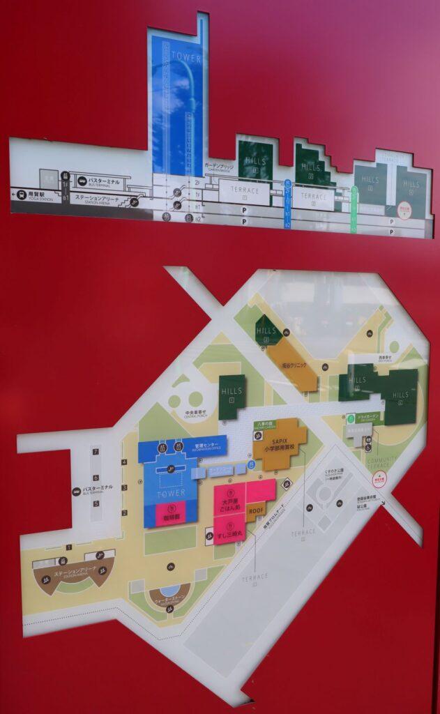 世田谷ビジネススクエアの案内マップ