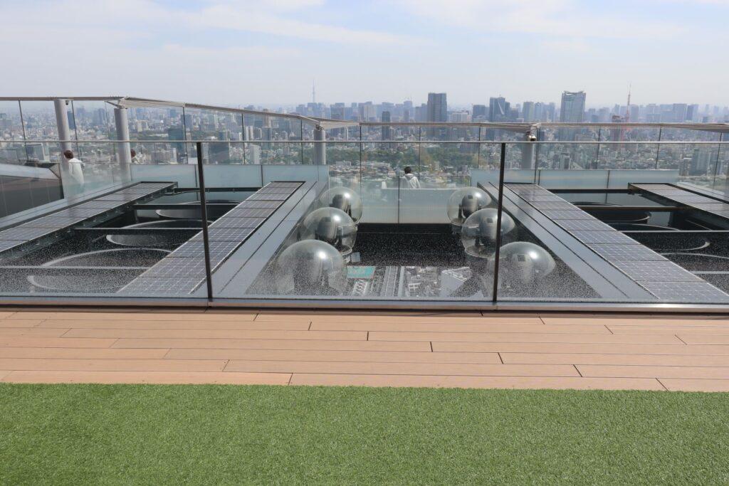 渋谷スクランブルスクエアのSHIBUYA SKYの屋上にある設備