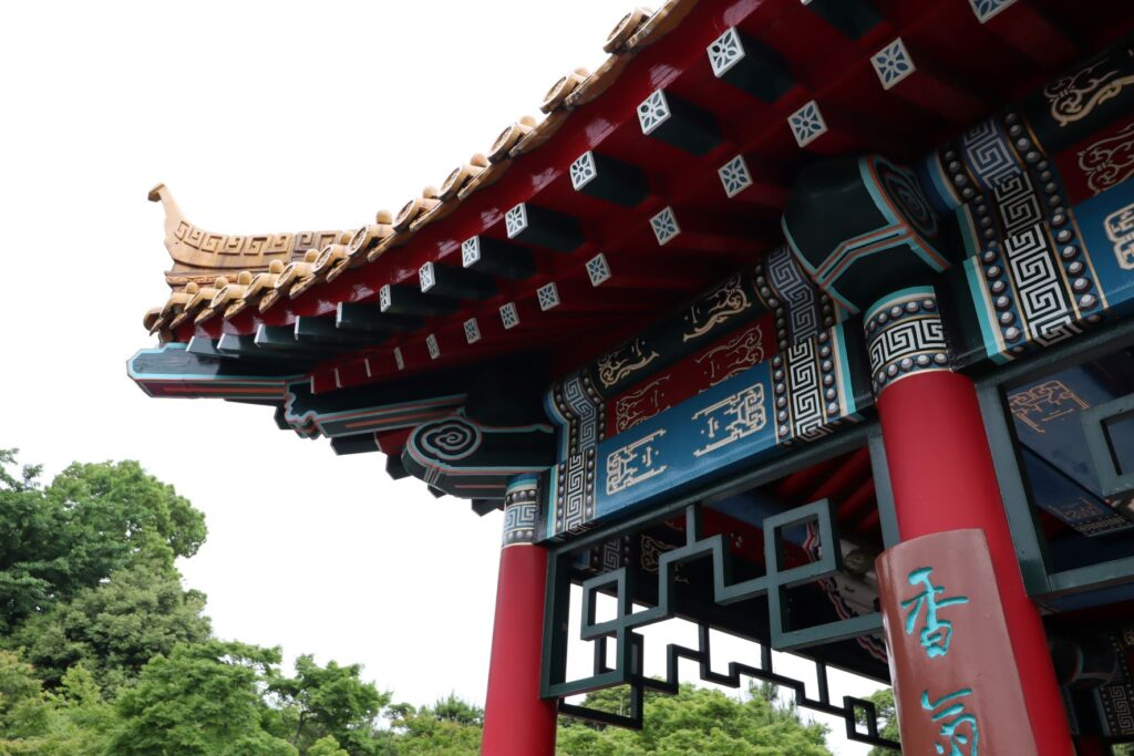 大師公園瀋秀園の藕香榭の斗拱