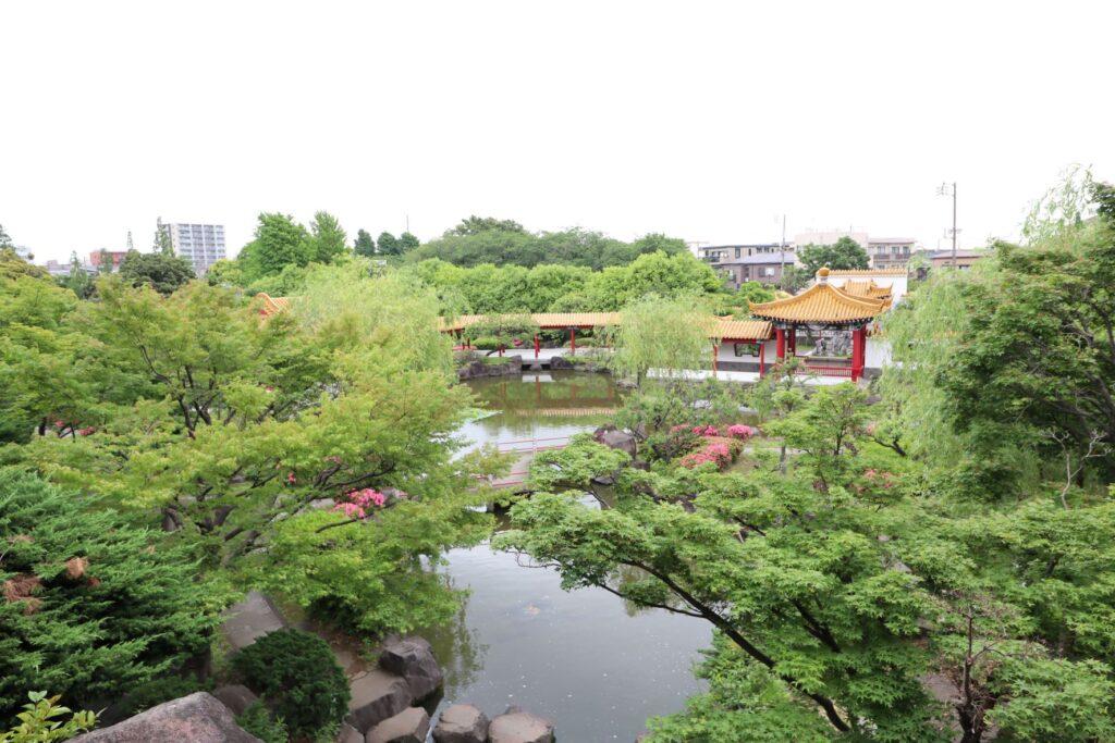 大師公園瀋秀園の眺望