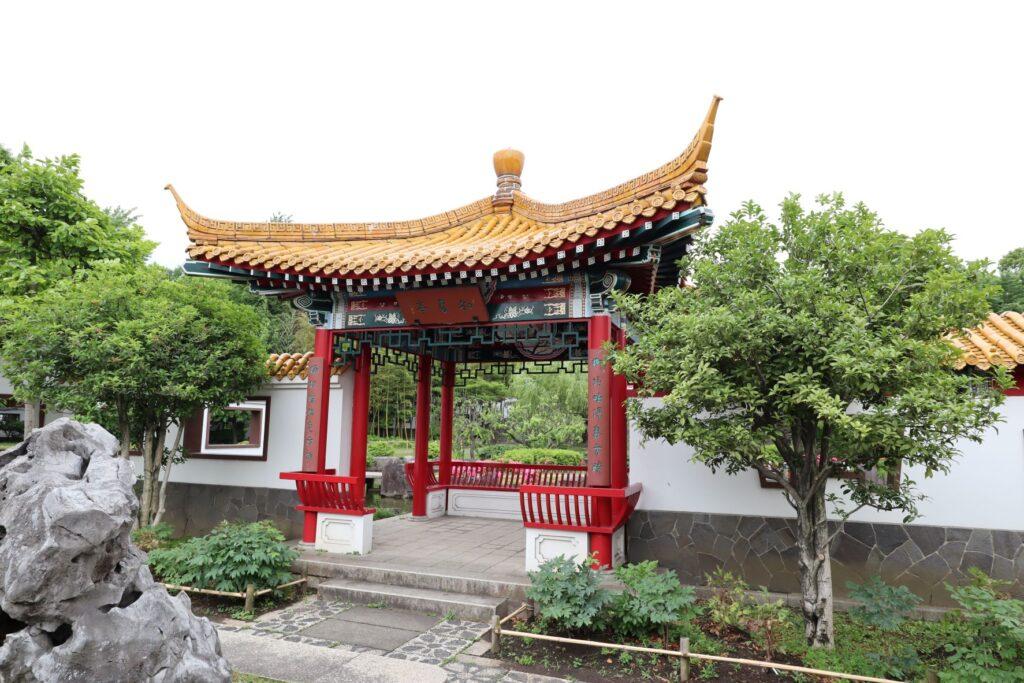 大師公園瀋秀園の知春亭