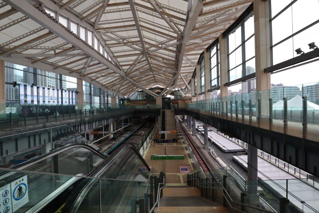 高輪ゲートウェイ駅の2階構内