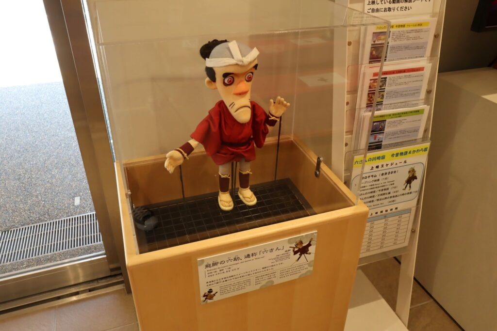 東海道かわさき宿交流館の1F展示室の六助