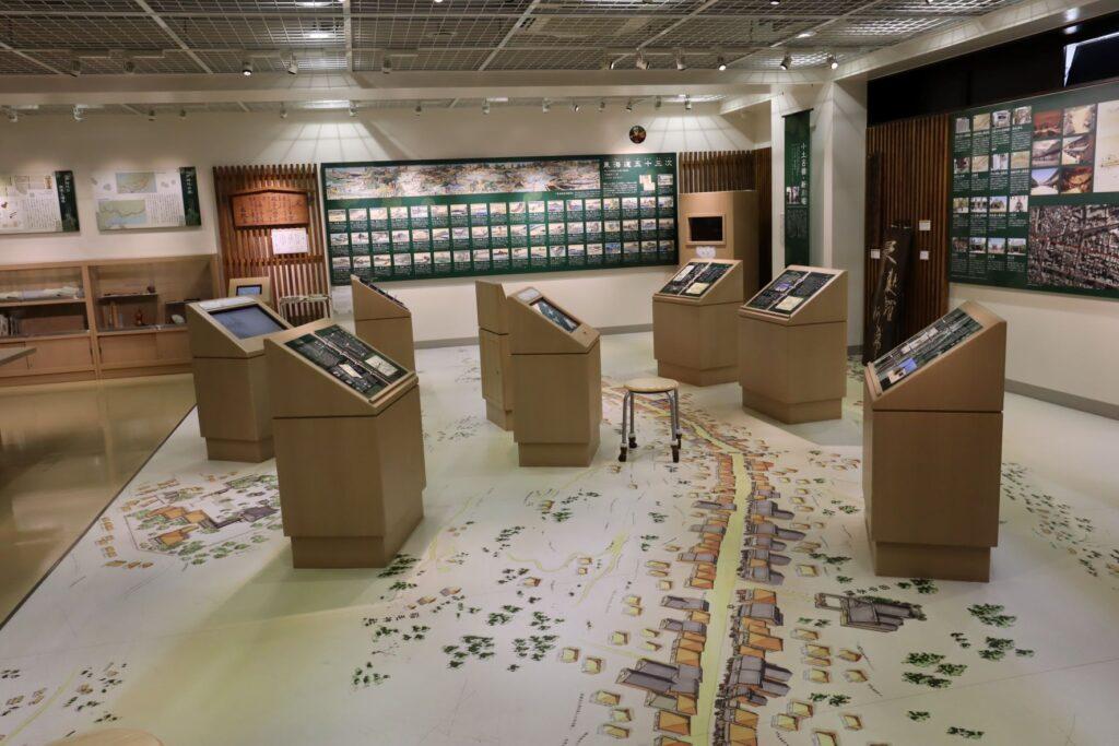 東海道かわさき宿交流館の2F展示室