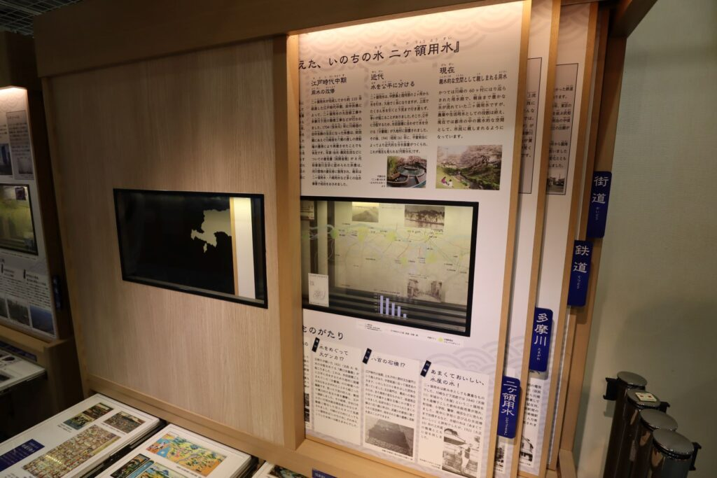東海道かわさき宿交流館の3F展示室の川崎分解劇場