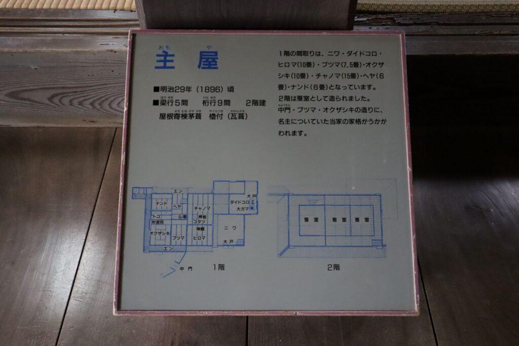 旧橫溝家住宅の平面図