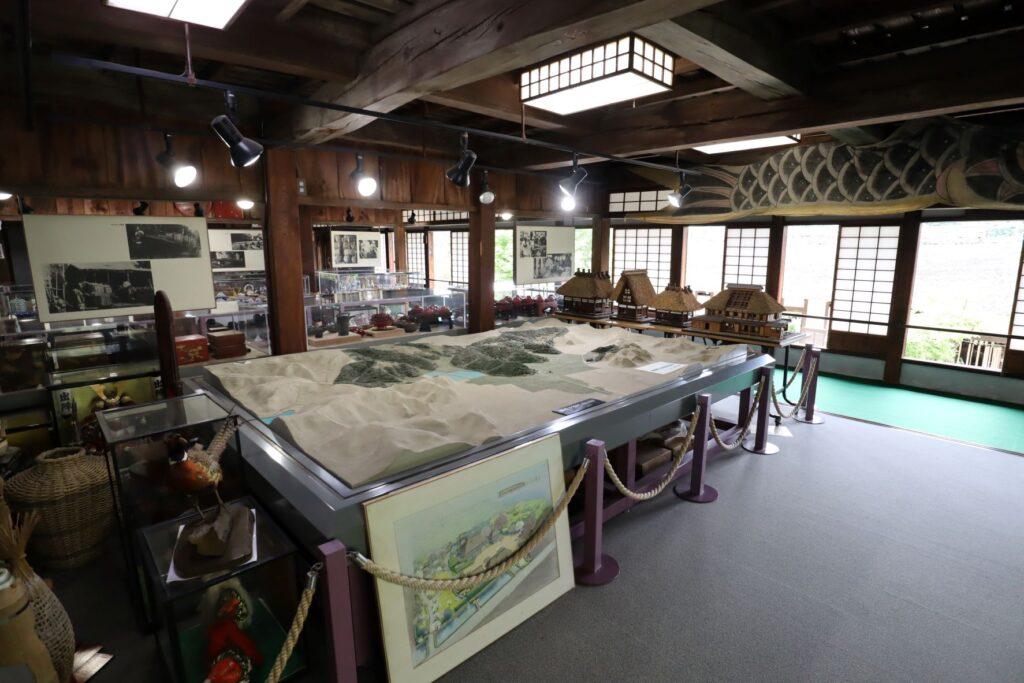 旧橫溝家住宅の2階展示室
