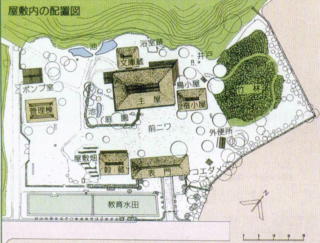 旧横溝家住宅の園内マップ
