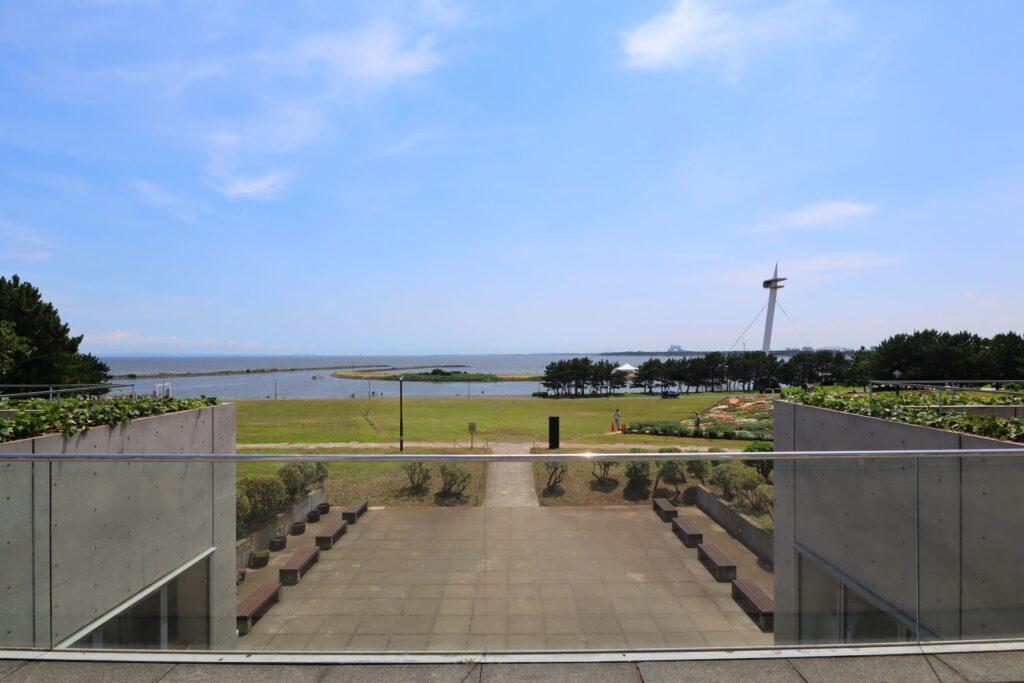展望レストハウス・クリスタルビューから見た海