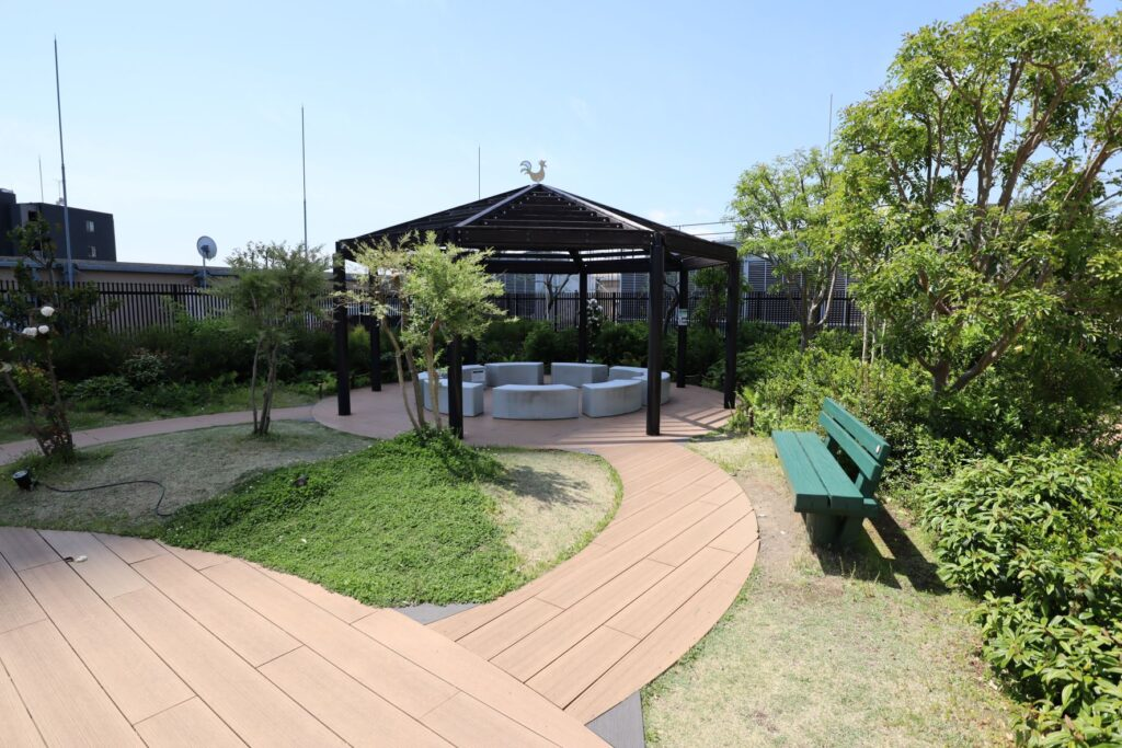 グランツリー武蔵小杉の屋上庭園