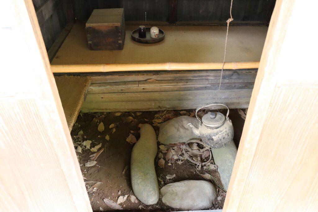 日本民家園の神奈川の村の船頭小屋内観