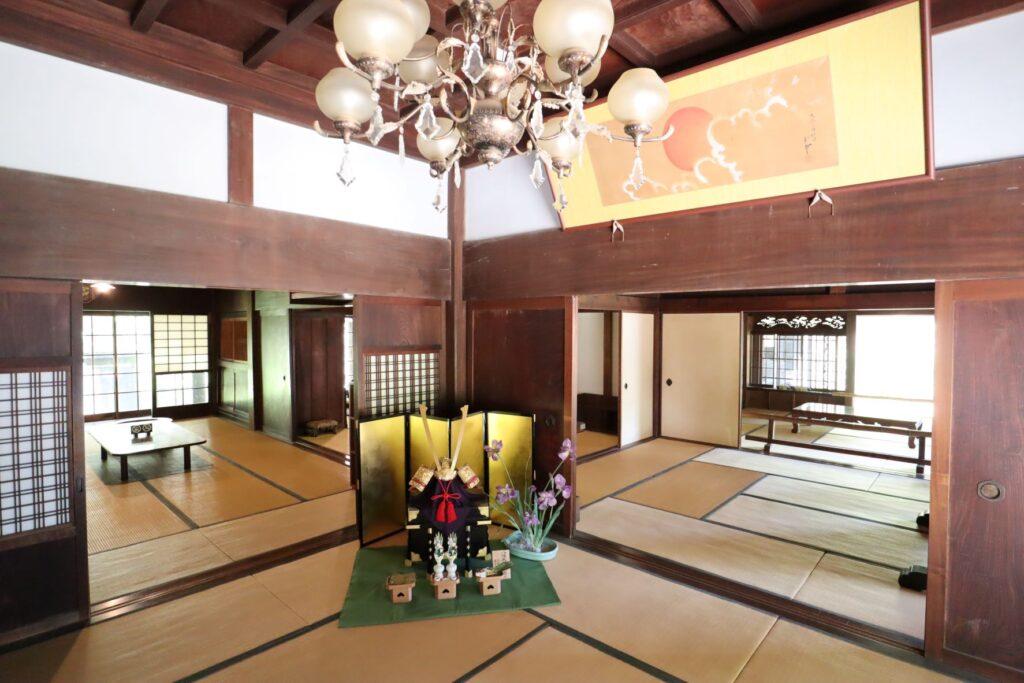 日本民家園の原家住宅内観