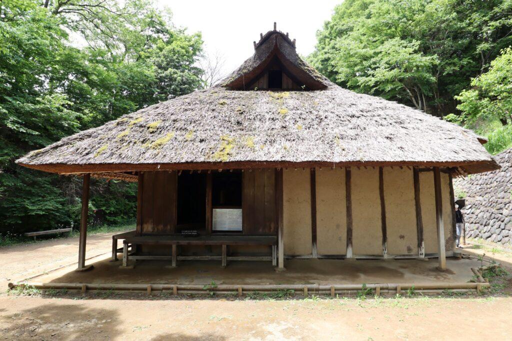 日本民家園の神奈川の村の伊藤家住宅外観