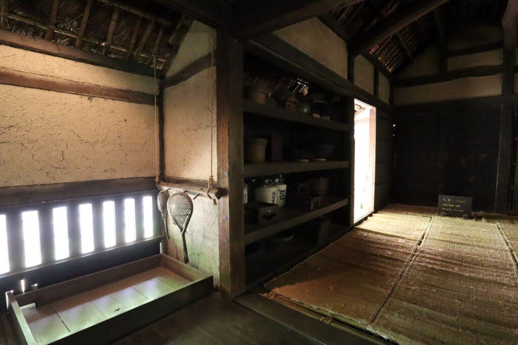 日本民家園の神奈川の村の伊藤家住宅炊事場