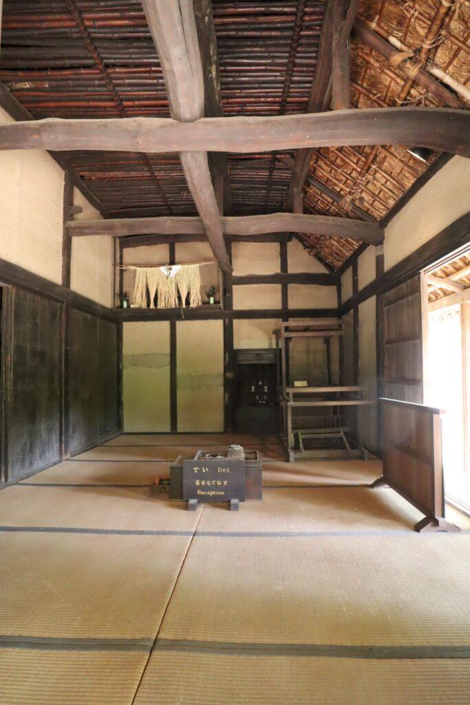 日本民家園の神奈川の村の伊藤家住宅座敷