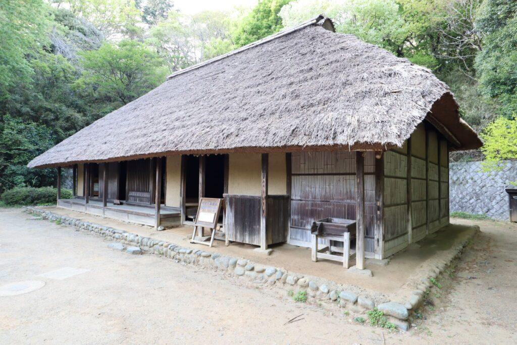 日本民家園の神奈川の村の北村家住宅外観