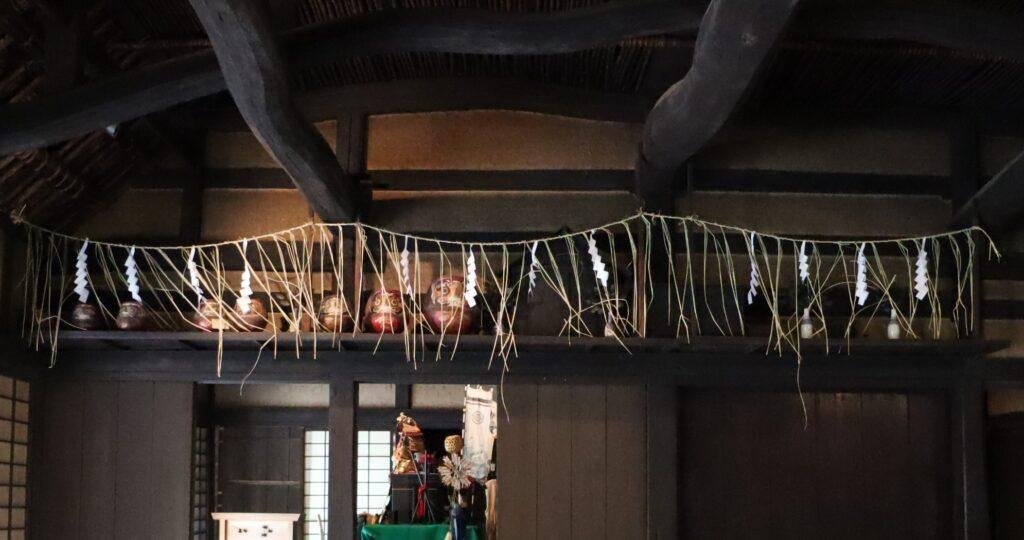 日本民家園の神奈川の村の北村家住宅の神棚