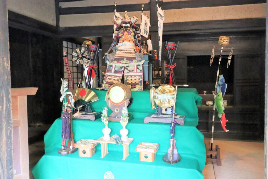 日本民家園の神奈川の村の北村家住宅の座敷