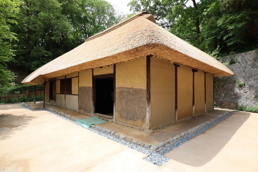 日本民家園の神奈川の村の清宮家住宅外観