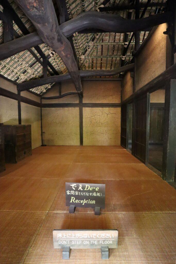 日本民家園の神奈川の村の清宮家住宅座敷