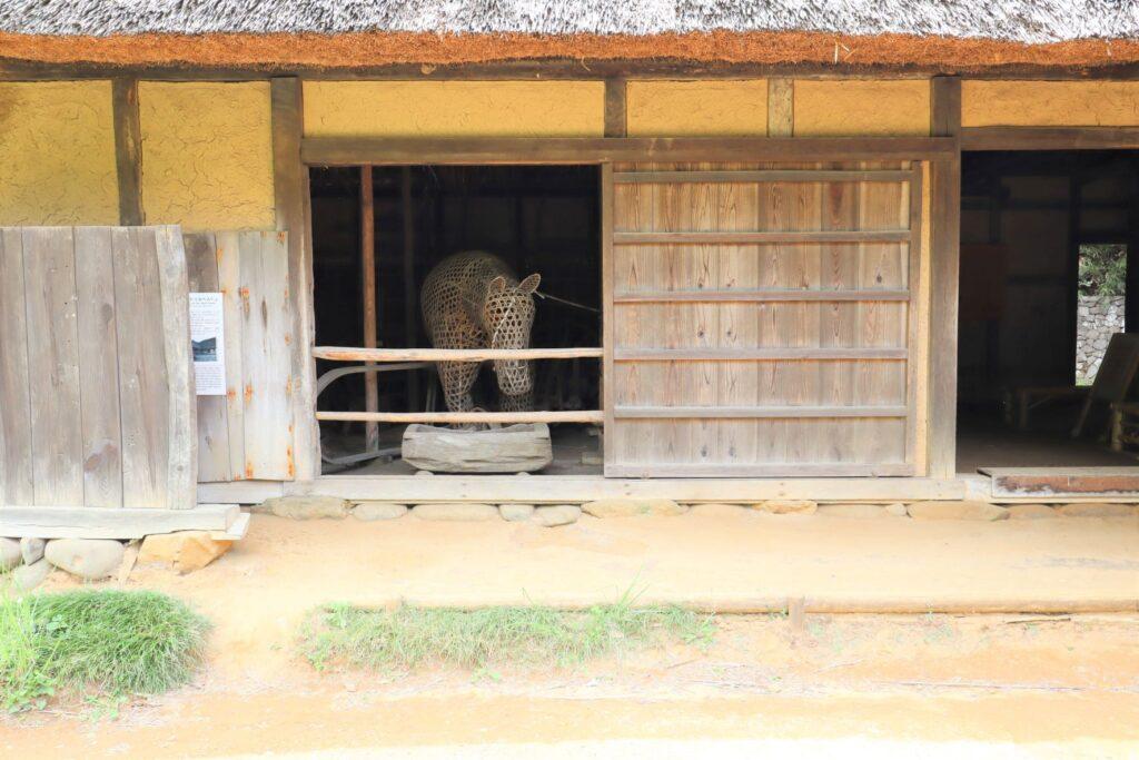 日本民家園の東北の村の工藤家住宅外観