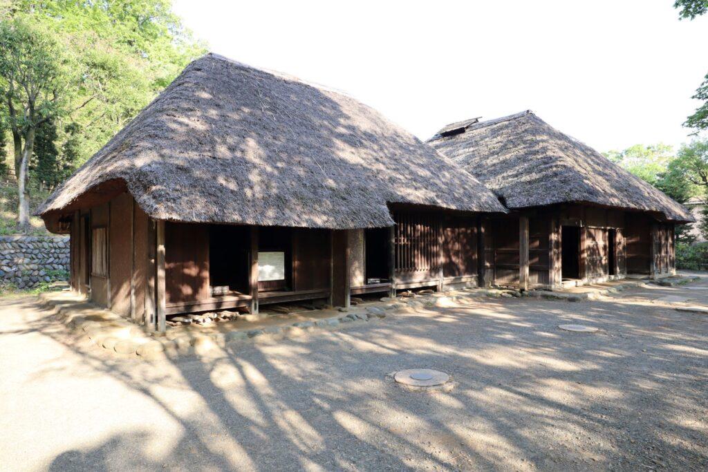 日本民家園の関東の村の太田家住宅外観