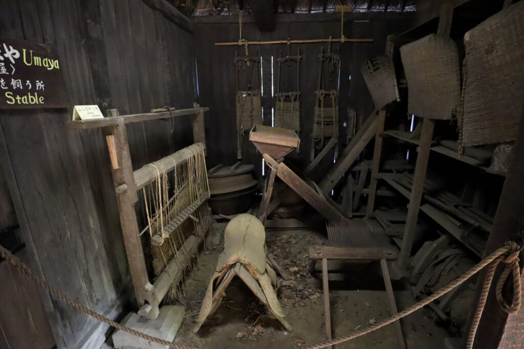 日本民家園の関東の村の太田家住宅馬屋
