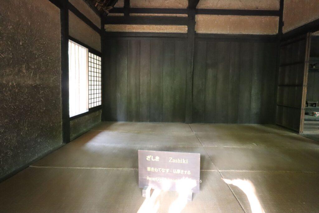 日本民家園の関東の村の太田家住宅座敷