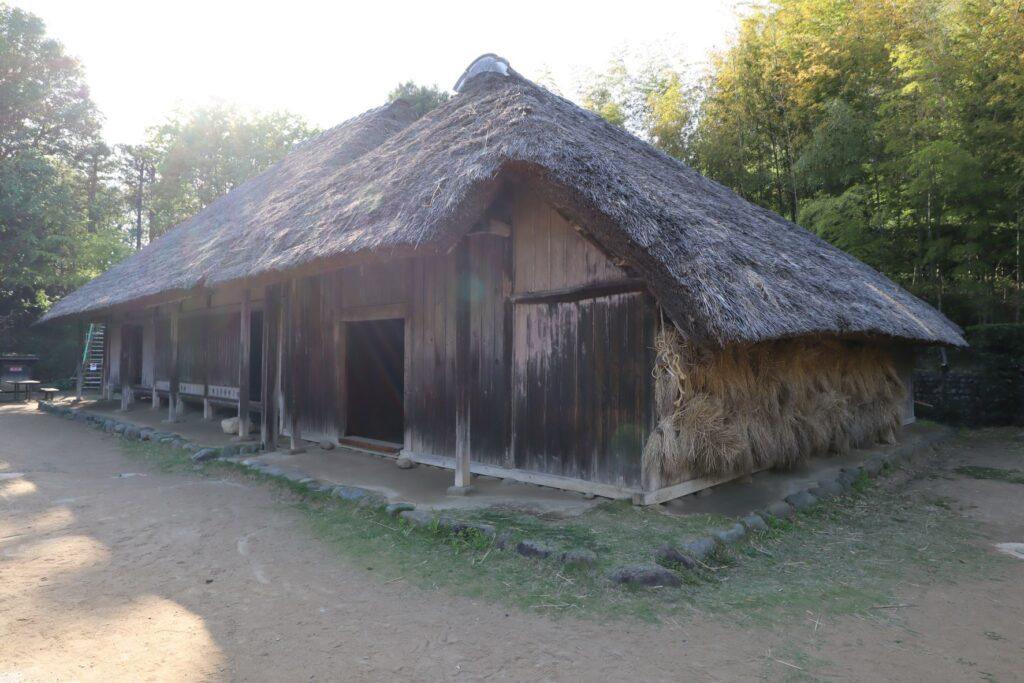日本民家園の関東の村の作田家住宅外観