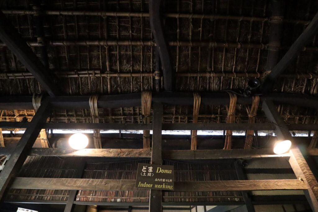 日本民家園の関東の村の作田家住宅内観
