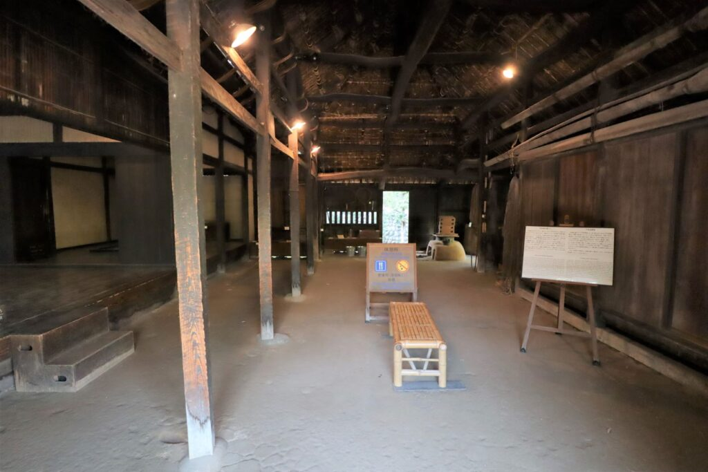 日本民家園の関東の村の作田家住宅土間