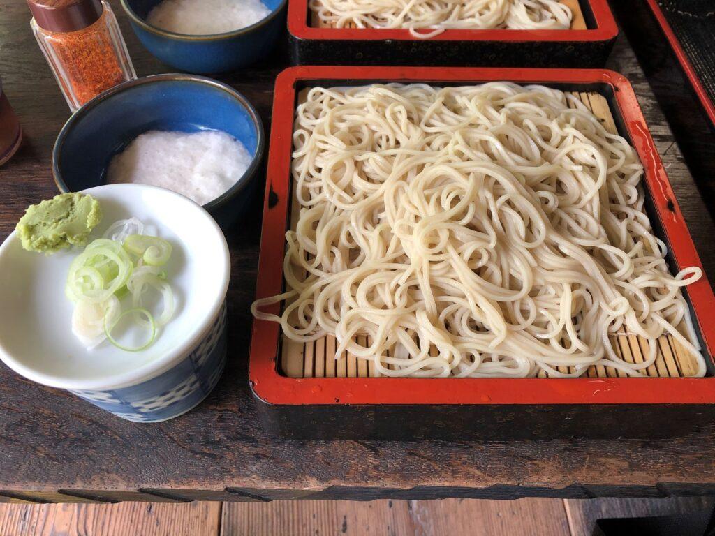 日本民家園の信越の村の山下家住宅の蕎麦