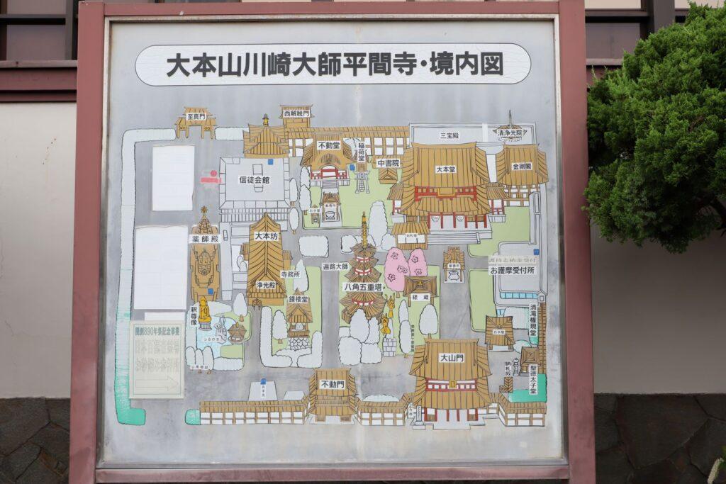 川崎大師の境内図
