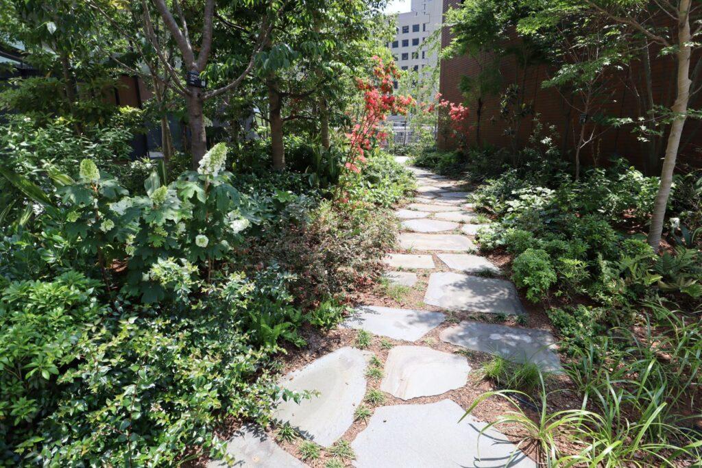 KAWASAKI DELTAの2階緑地