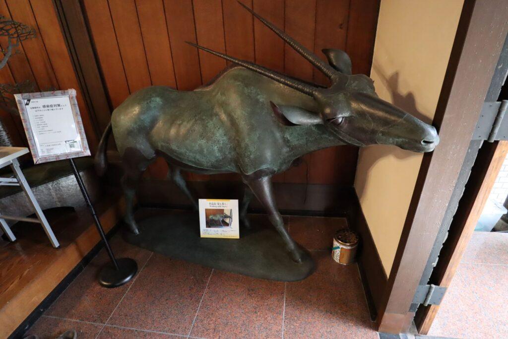 小黒恵子童謡記念館の牛の置物
