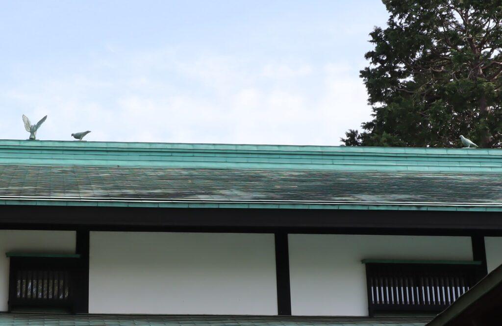 小黒恵子童謡記念館の屋根